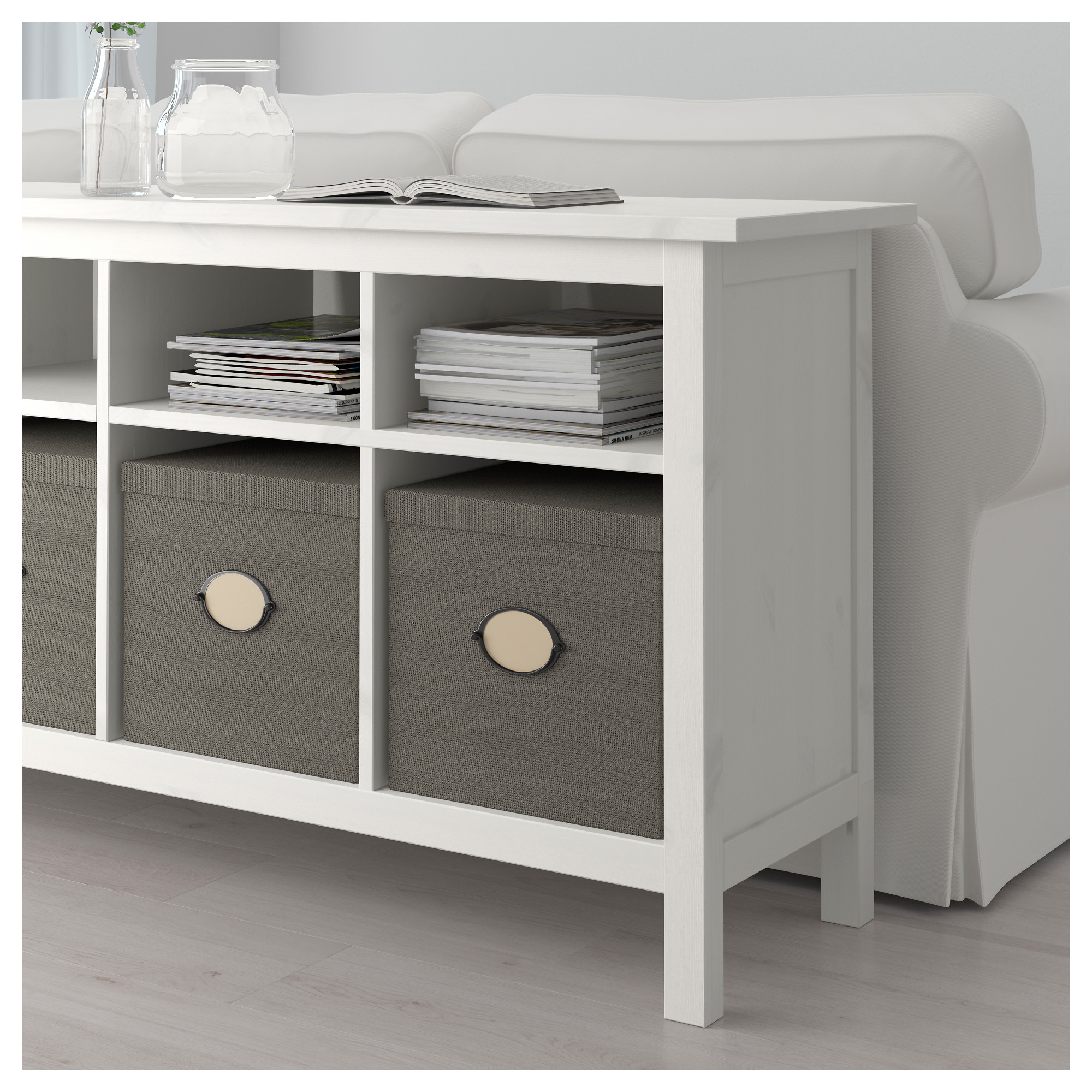 Charmant Console Table HEMNES White Stain
