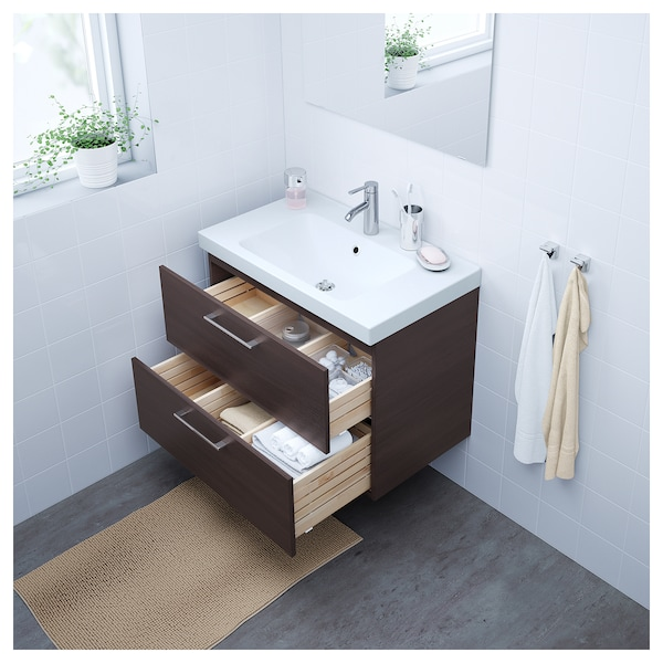 Godmorgon Sink Cabinet With 2 Drawers Black Brown Ikea