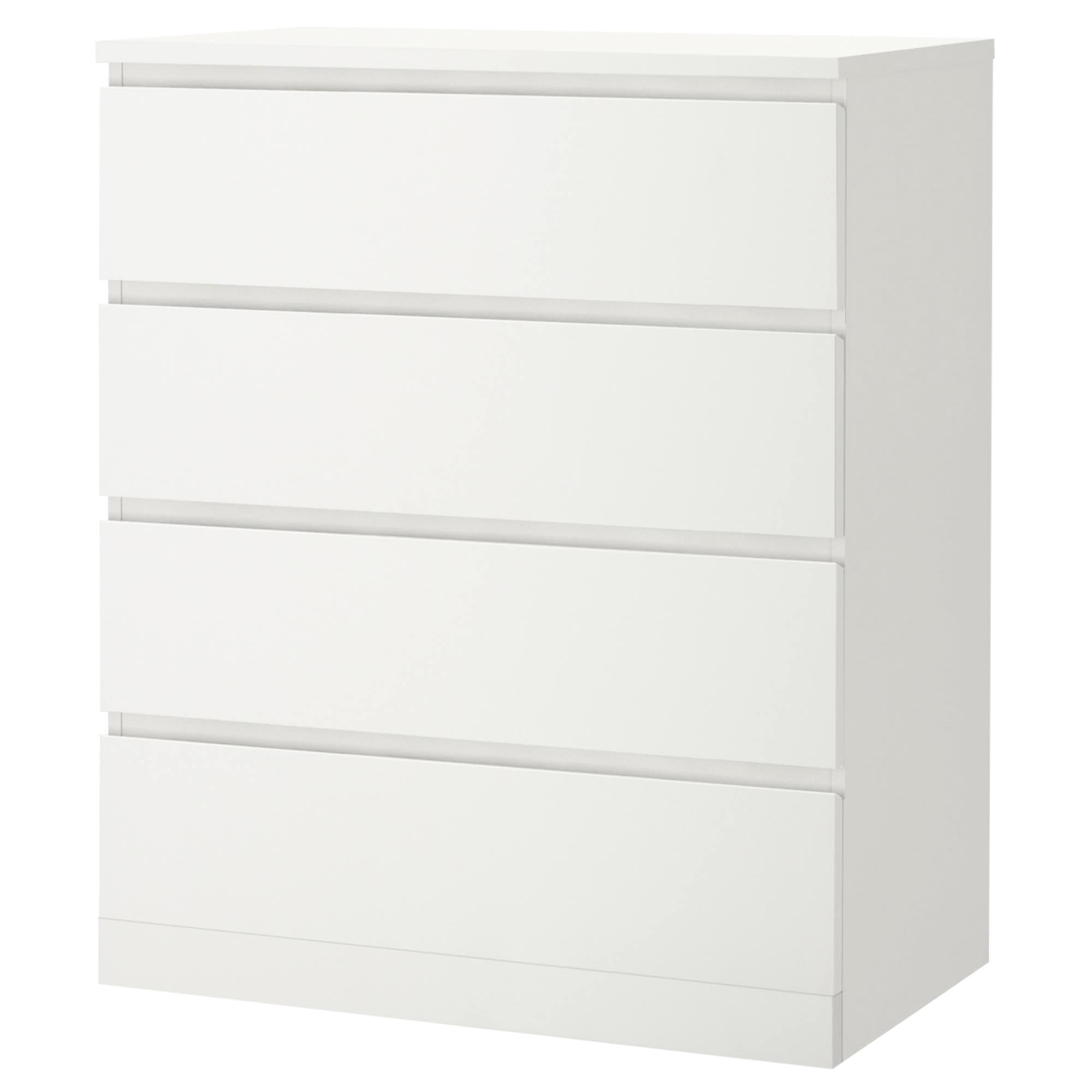Ikea bedroom furniture chest of drawers - Malm 4 Drawer Chest White Width 31 1 2 Depth
