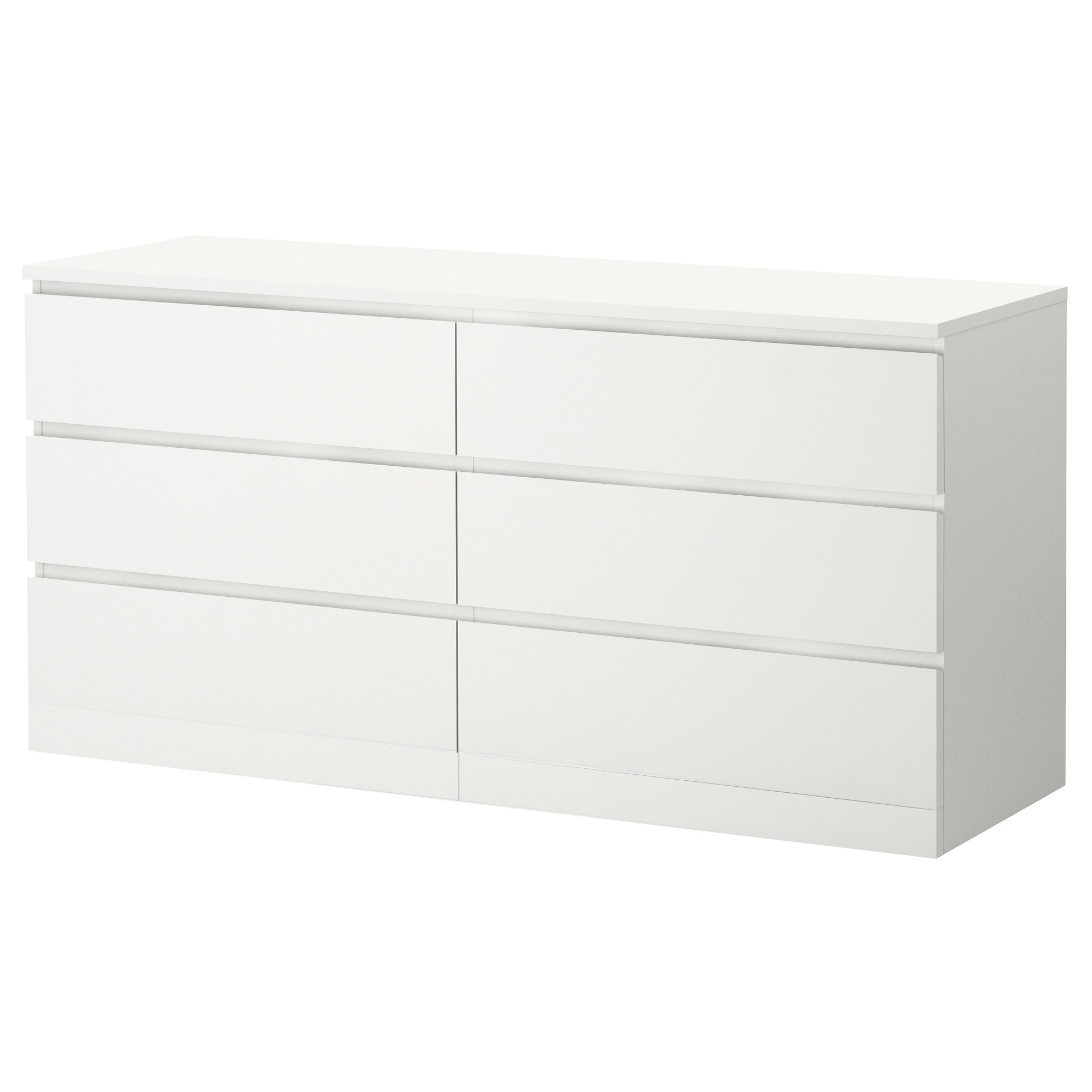 6 Drawer Dresser Malm White