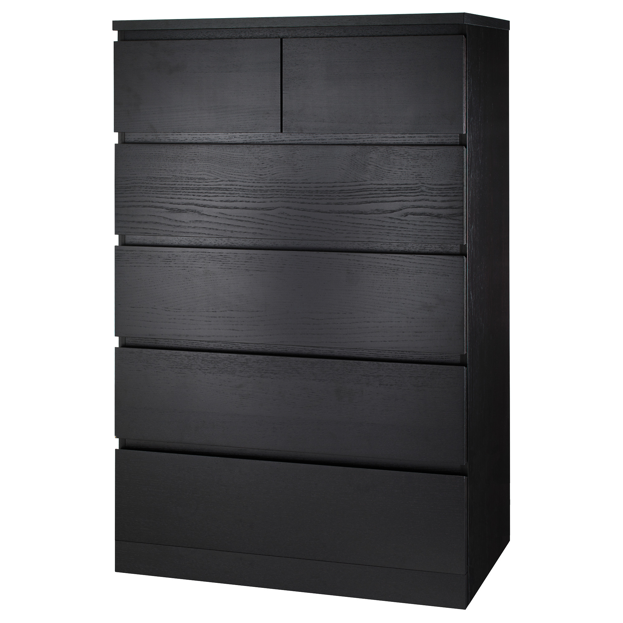 Malm 6 Drawer Chest Black Brown Width 31 1 2
