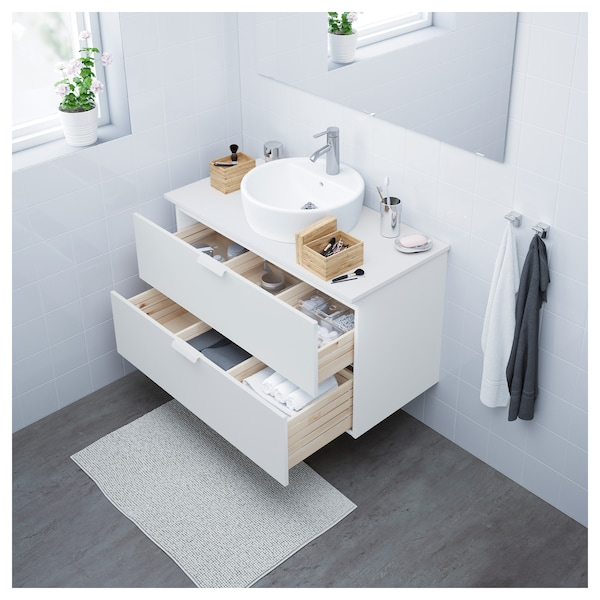 Godmorgon Waschtisch.Wash Stand With 2 Drawers Godmorgon White