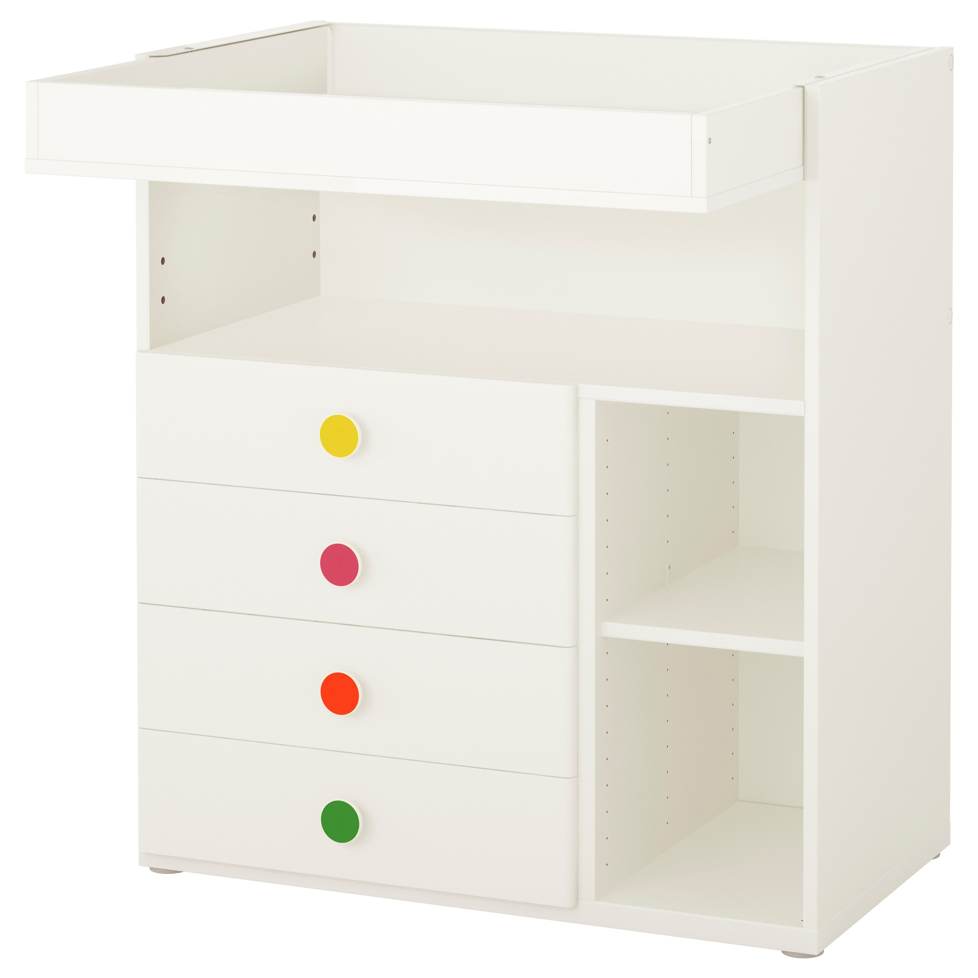 STUVA / FÖLJA Changing Table With 4 Drawers, White Width: 35 3/8