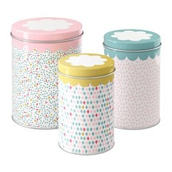 UDDIG tin with lid, set of 3
