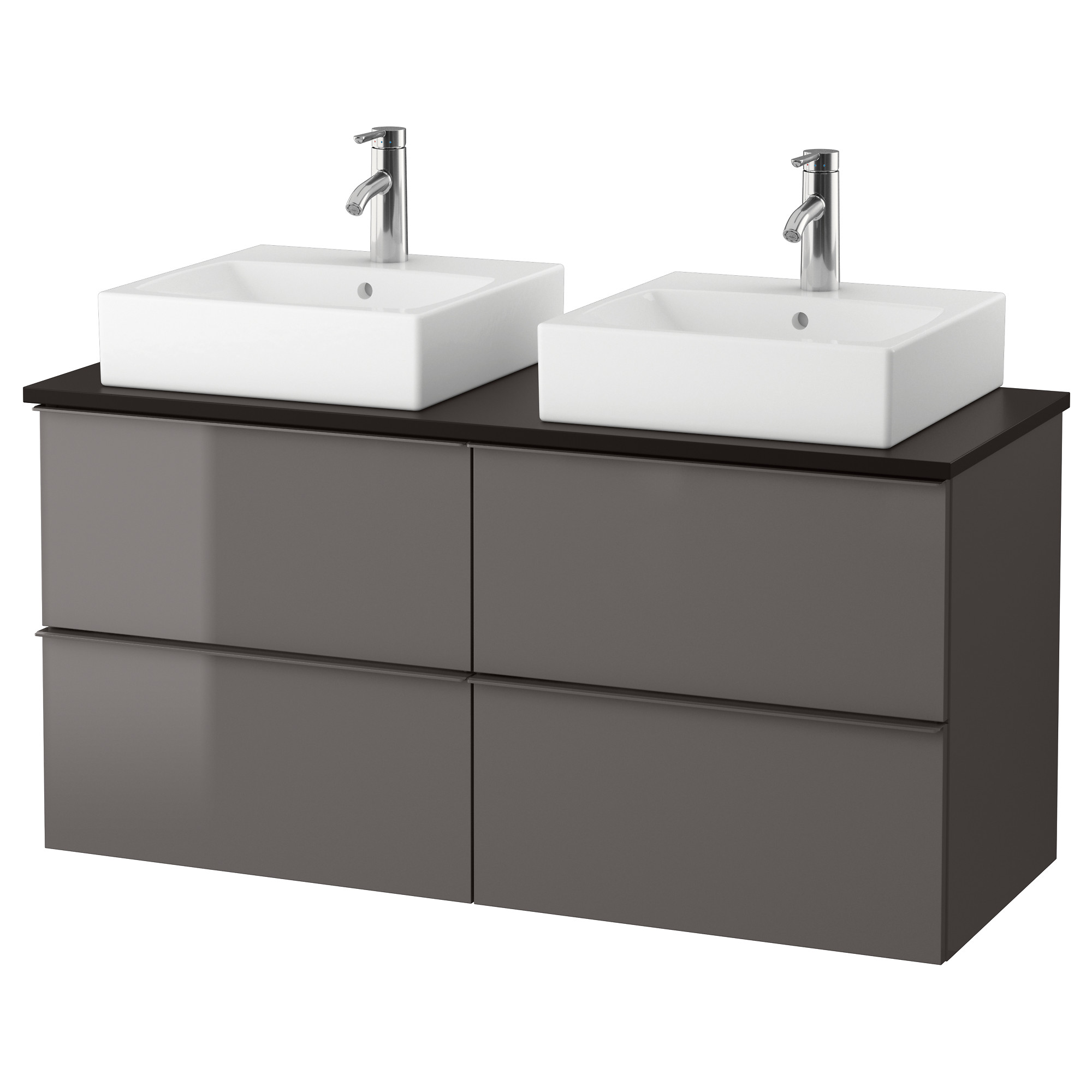 godmorgon tolken trnviken vanity countertop and 17 34 sink - Bathroom Cabinets Black Gloss