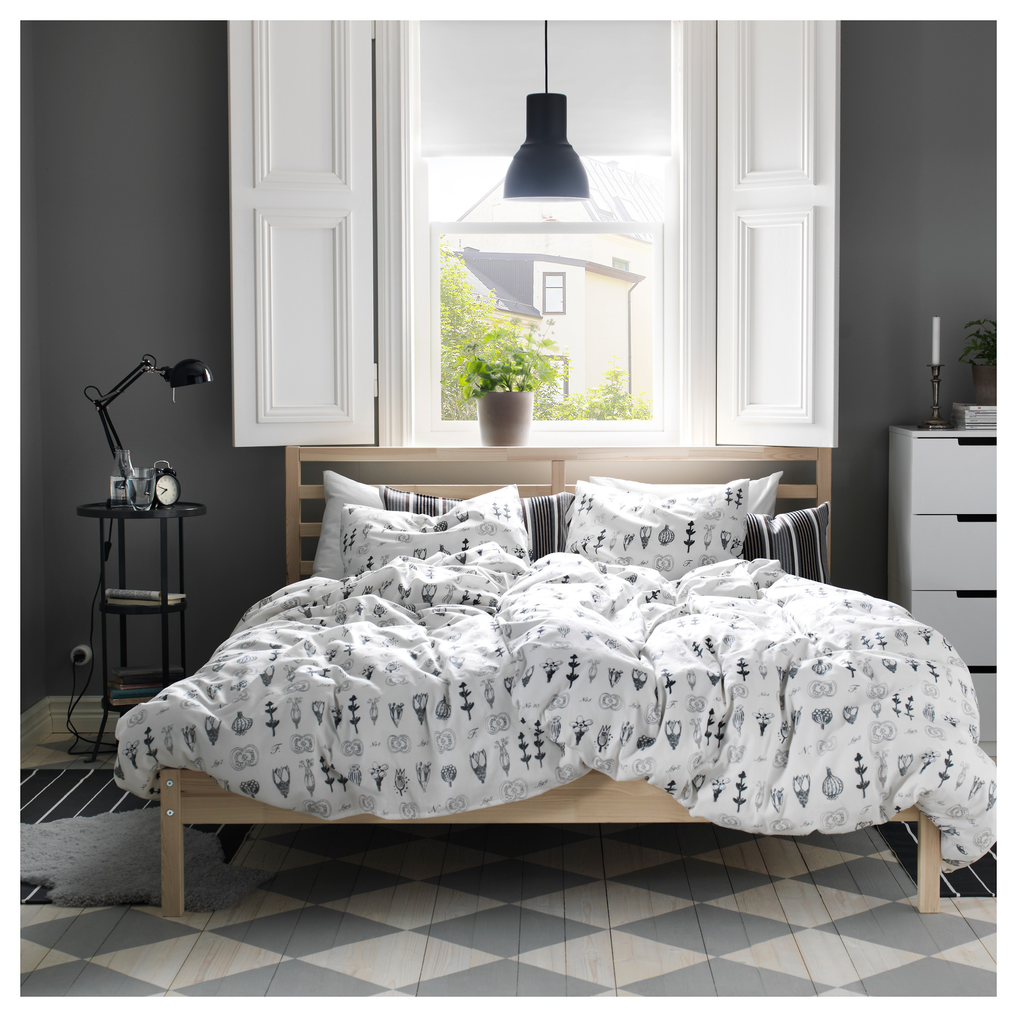 TARVA Bed frame - Queen, Luröy - IKEA