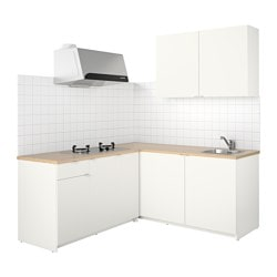 KNOXHULT kitchen, white Width: 182.0 cm System, depth: 183.0 cm Height: 220.0 cm