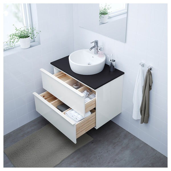 Godmorgon Bathroom Vanity High Gloss White Ikea