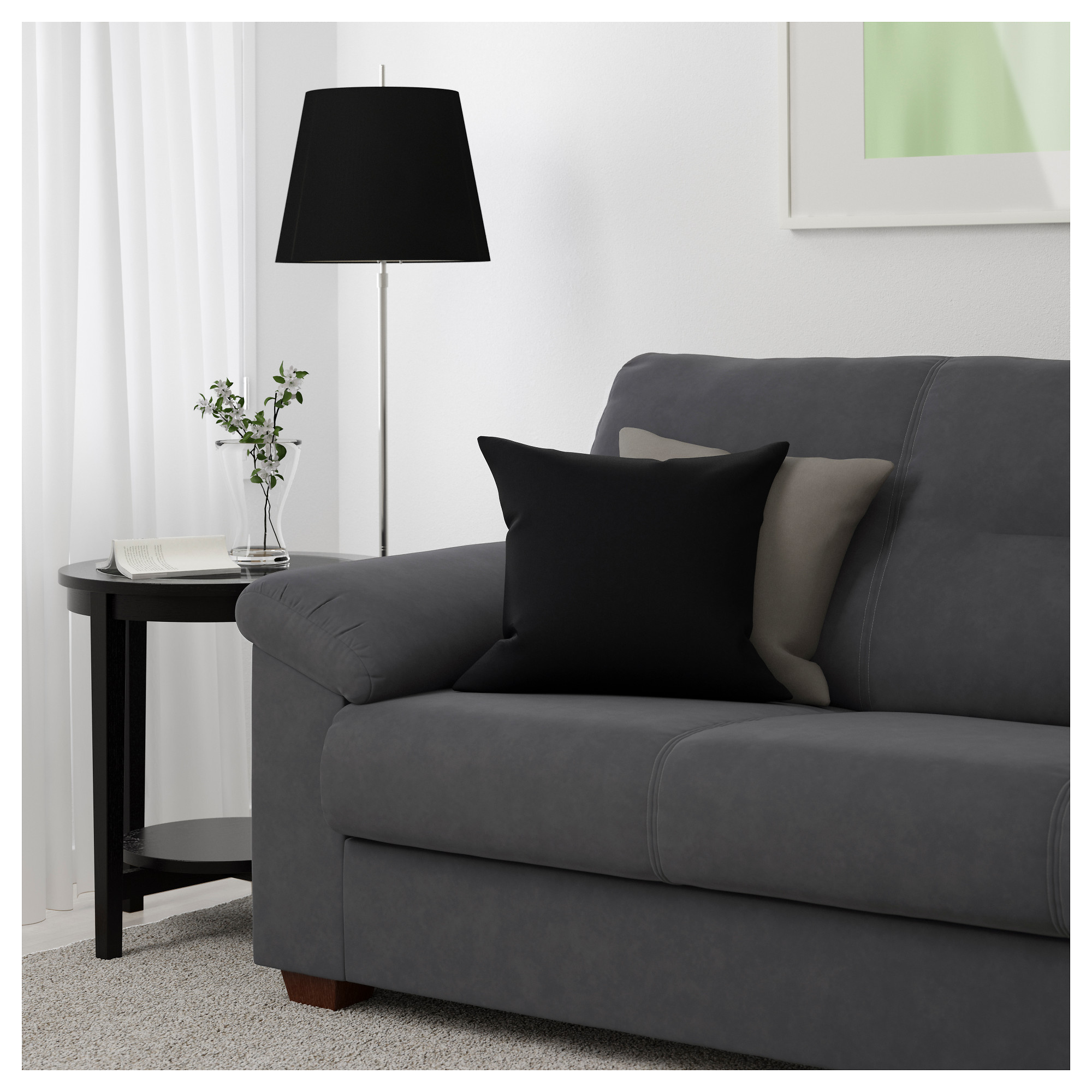 ikea gray sofa knislinge sofa samsta dark gray ikea thesofa. Black Bedroom Furniture Sets. Home Design Ideas