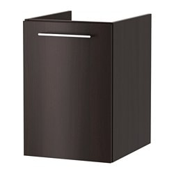 GODMORGON laundry cabinet, black-brown Width: 40 cm Depth: 47 cm Height: 58 cm
