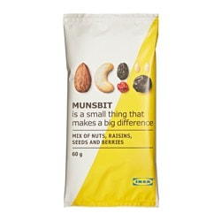 MUNSBIT natural nuts/berries/raisins Net weight: 2.1 oz Net weight: 60 g