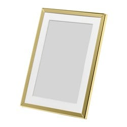 GULDBODA frame, brass-colour