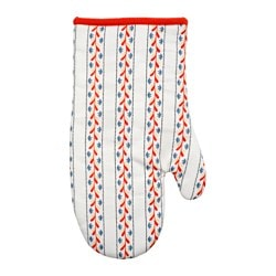FINSTILT oven glove, multicolour Length: 33 cm