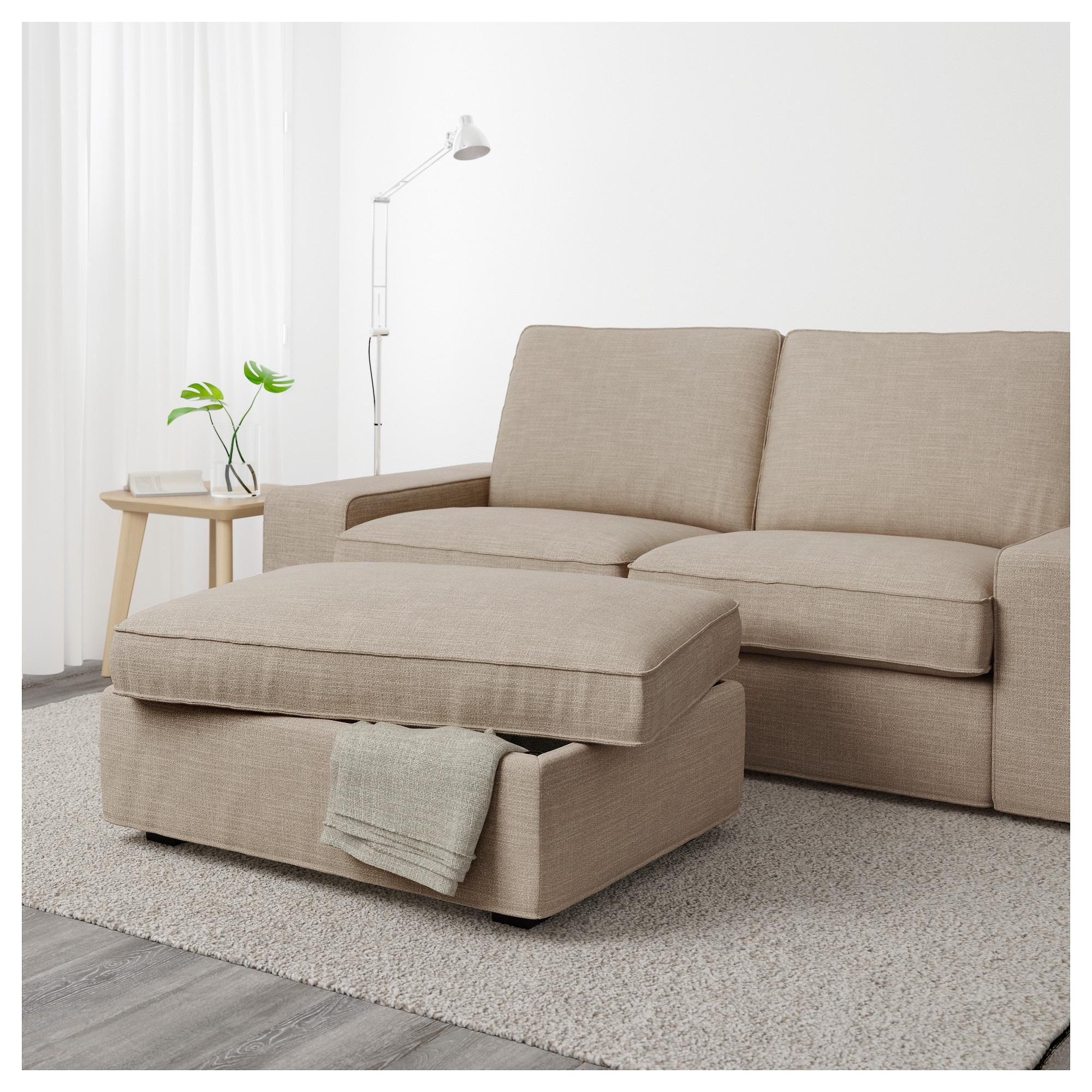 KIVIK Footstool with storage Orrsta light grey IKEA
