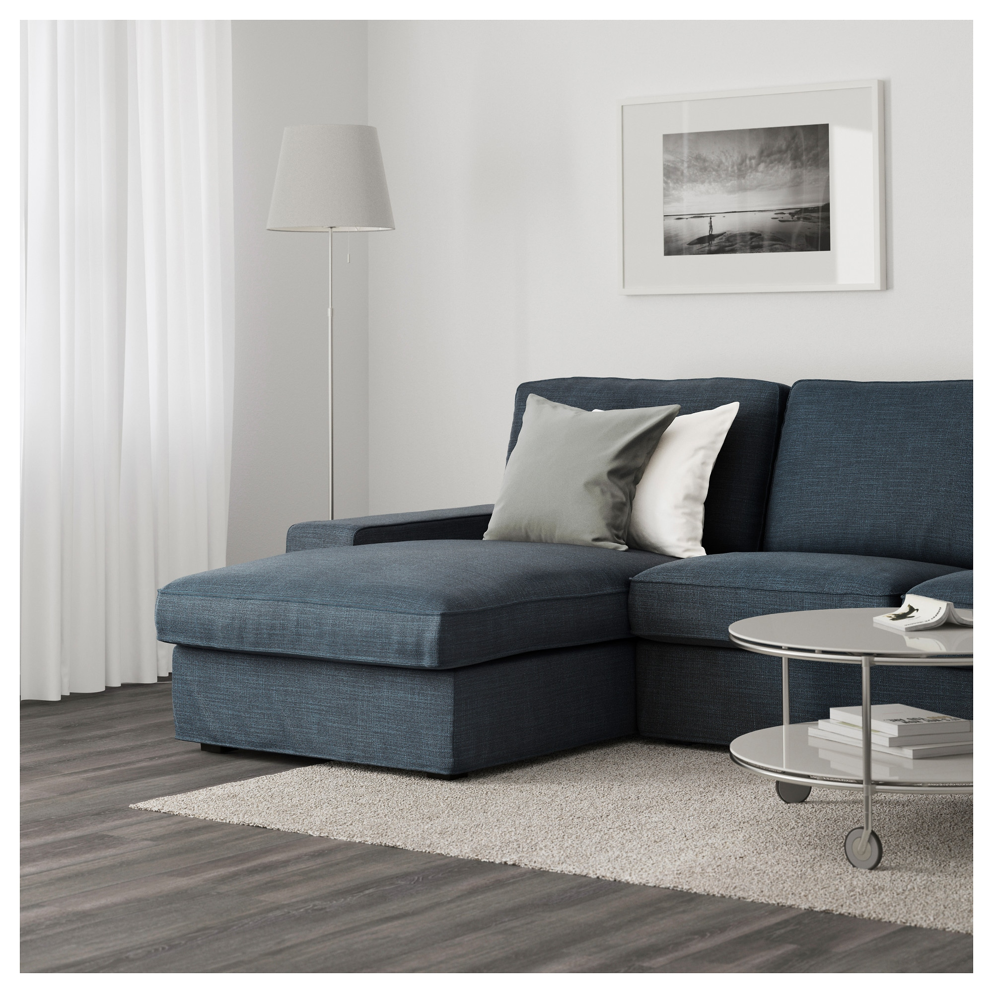 KIVIK Sofa with chaise Hillared anthracite IKEA