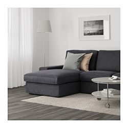 Kivik Sofa Hillared With Chaise Anthracite