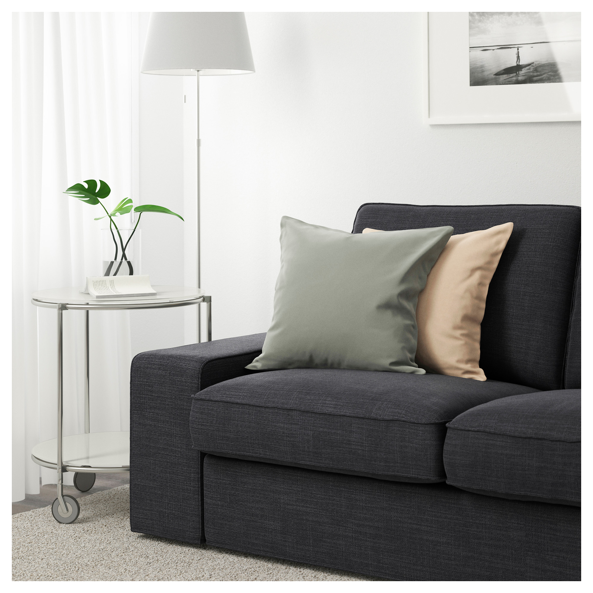 KIVIK Two seat sofa Hillared dark blue IKEA