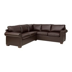 EKTORP Sectional, 4 Seat Corner, Kimstad Brown Depth: 34 5/8 ?