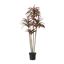 FEJKA artificial potted plant, Dracena Diameter of plant pot: 15 cm Height of plant: 110 cm