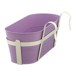 SOCKER flower box with holder, in/outdoor, lilac