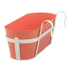 SOCKER flower box with holder, in/outdoor, orange