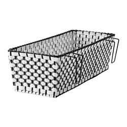 "SOLROSFRÖ flower box with holder, indoor/outdoor black/white Length: 20 ½ "" Width: 7 ¾ "" Height: 6 "" Length: 52 cm Width: 20 cm Height: 15 cm"