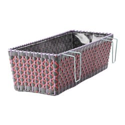 SOLROSFRÖ flower box with holder, in/outdoor multicolour Length: 52 cm Width: 20 cm Height: 15 cm