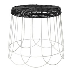 SOLROSFRÖ plant stand, in/outdoor black/white