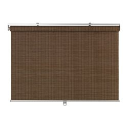 "BUSKTOFFEL roller blind, dark brown Width of fabric: 38 "" Length: 76 ¾ "" Area: 20.24 sq feet Width of fabric: 97 cm Length: 195 cm Area: 1.88 m²"