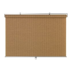 "BUSKTOFFEL roller blind, light brown Width of fabric: 48 "" Length: 76 ¾ "" Area: 25.62 sq feet Width of fabric: 122 cm Length: 195 cm Area: 2.38 m²"