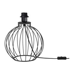 HOLMLIDEN table lamp base, dark grey Height: 24.5 cm Base diameter: 26 cm Cord length: 2.4 m
