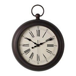 JULLA wall clock, brown Diameter: 40 cm