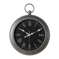 JULLA wall clock, silver-colour Diameter: 40 cm