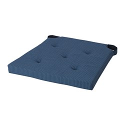 JUSTINA chair pad, dark blue