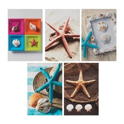 KORTEBO art card, starfish Width: 10 cm Height: 15 cm Package quantity: 5 pack