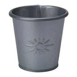 SKOGHALL plant pot, galvanised Outside diameter: 7 cm Max. diameter flowerpot: 6 cm Height: 7 cm