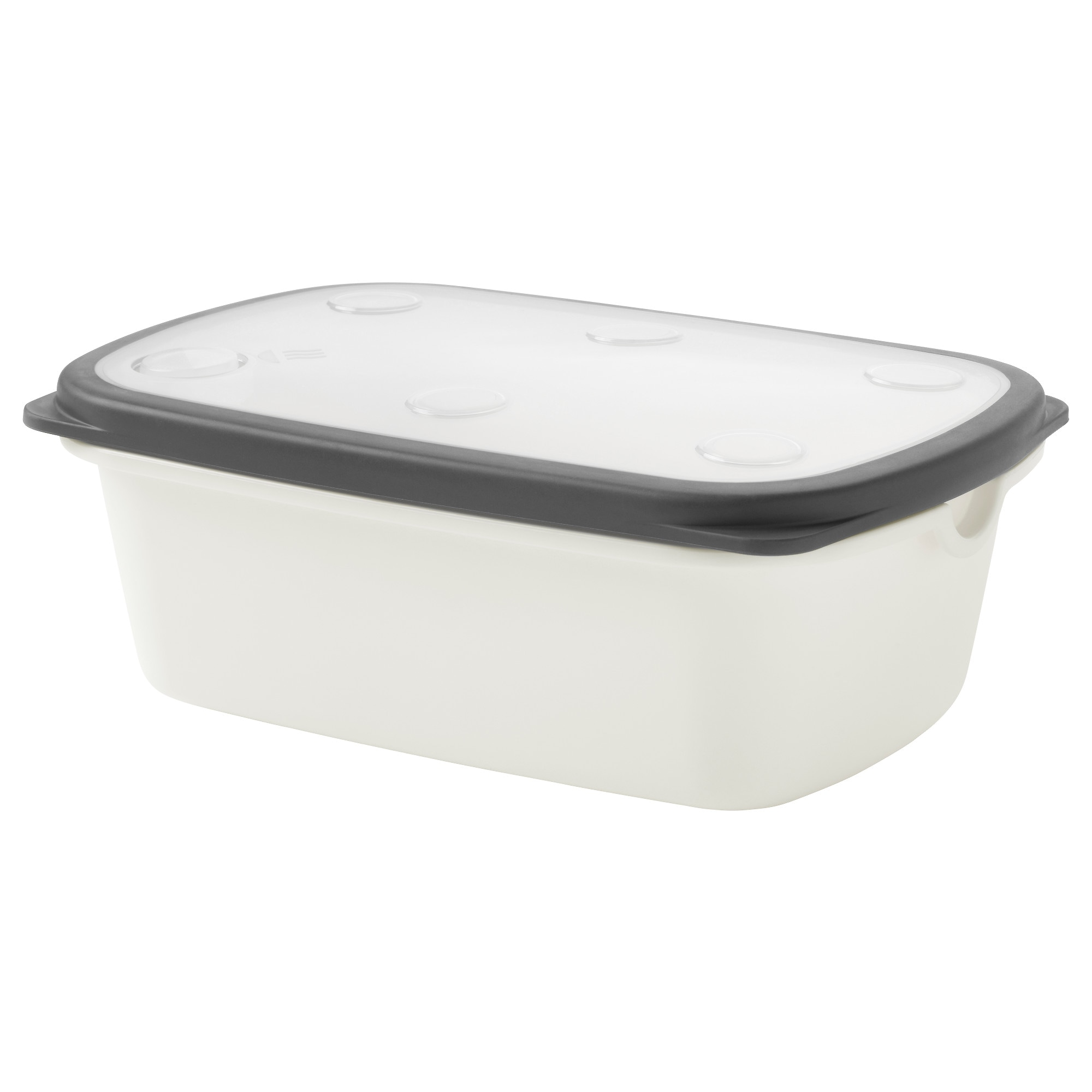 Ikea 365 Food Container White Gray Length 9 ¾ Width 6