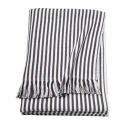 TUVALIE throw, striped white, dark grey Length: 180 cm Width: 120 cm Total weight: 700 g