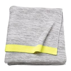LISAMARI throw, light grey, yellow Length: 170 cm Width: 130 cm Total weight: 760 g