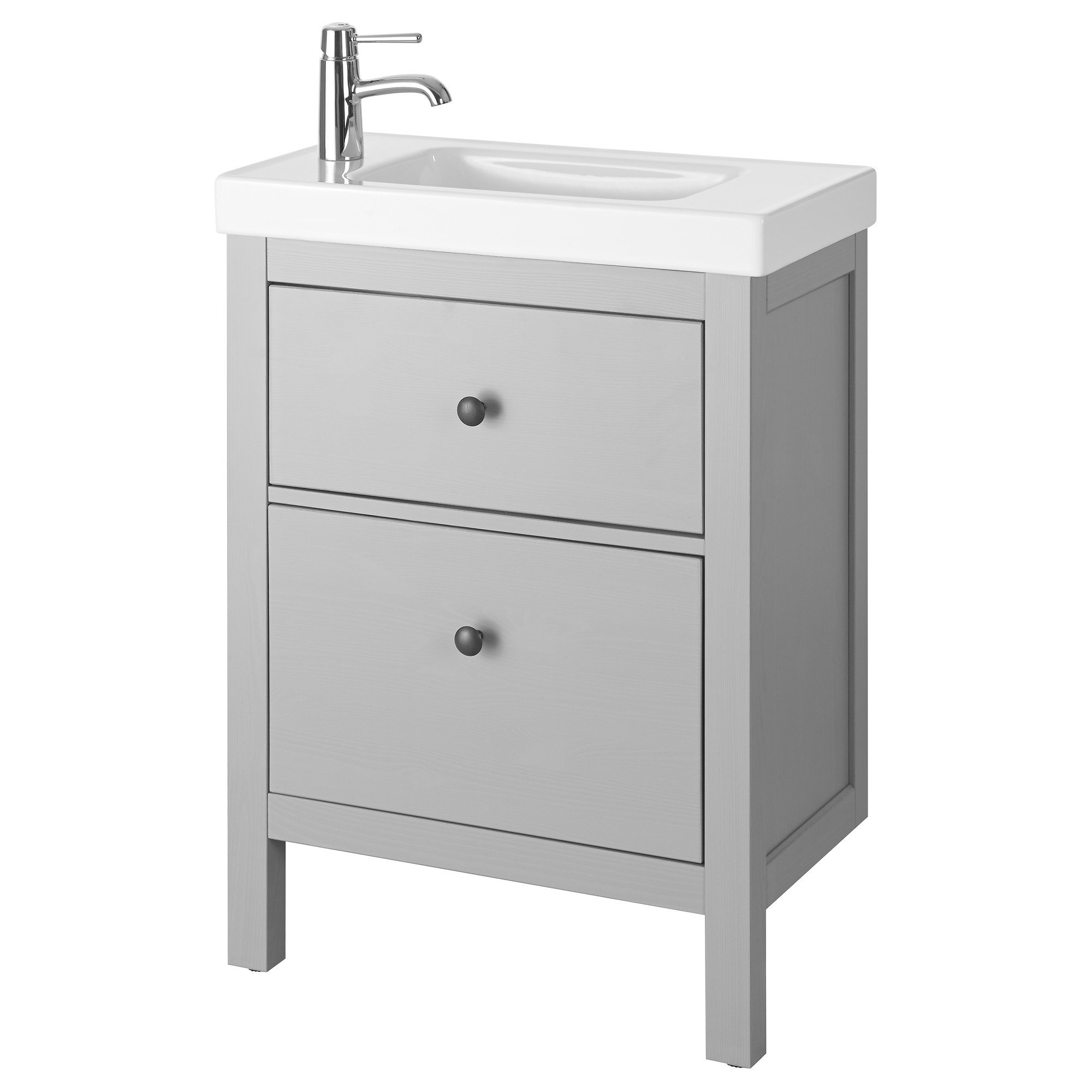 Bathroom sink dimensions mm - Hemnes Hagaviken Sink Cabinet With 2 Drawers Gray Width 24 3 4