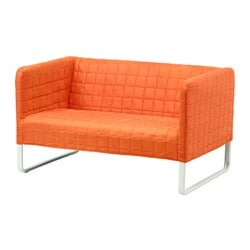 KNOPPARP 2-sitssoffa, orange