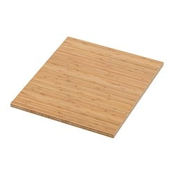 TOLKEN countertop, bamboo Length: 42 cm Depth: 49 cm Thickness: 1.8 cm