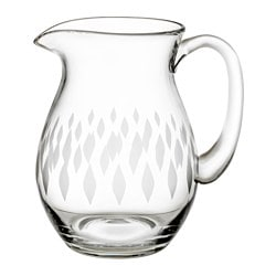 HEMMAFEST jug, glass Height: 19 cm Volume: 1.5 l