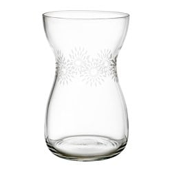 HEMMAFEST vase, glass Height: 20 cm Diameter: 12 cm