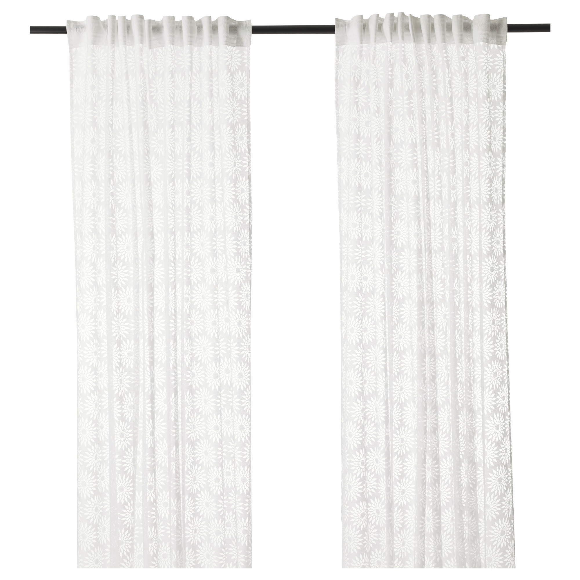 Bunk bed curtains ikea the curtains are four lenda - Hemmafest Sheer Curtains 1 Pair White Length 300 Cm Width 145 Cm