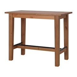 BALKÅKRA bar table, pine antique effect Length: 127 cm Width: 70 cm Height: 105 cm