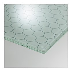 GLASHOLM Table Top, Glass, Honeycomb Pattern