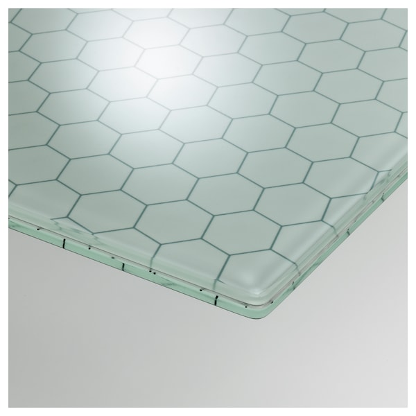 Table Top Glasholm Glass Honeycomb Patterned