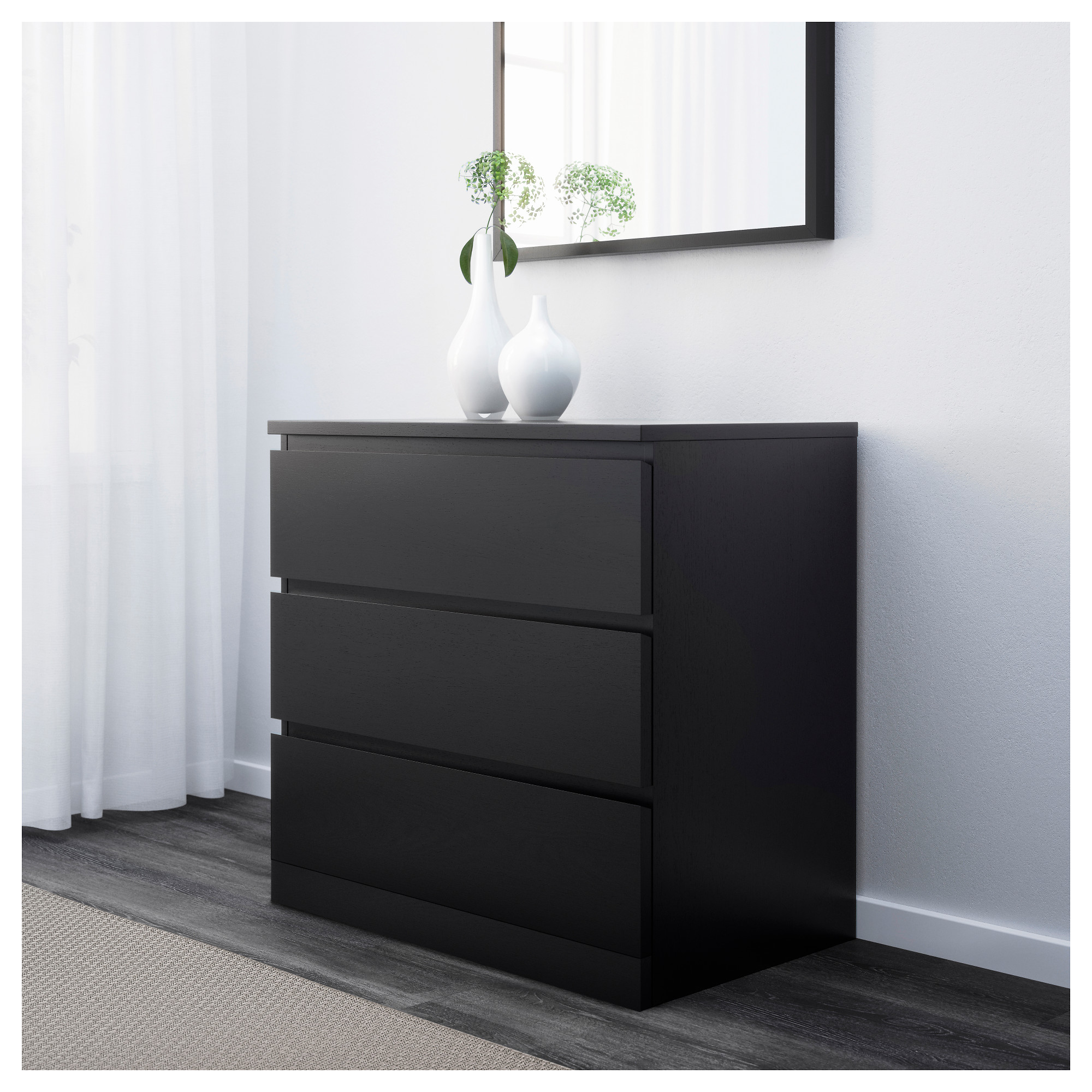 sleek particleboard chest bedroom black concealed lacquer moisture material and resistant outstanding runners handgrips size dresser wood mdf composite sleeping furniture decor of drawer full white room