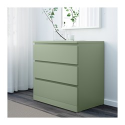 Malm  Drawer Chest Light Green